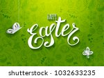 template raster copy card with... | Shutterstock . vector #1032633235