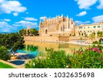 the gothic cathedral la seu at... | Shutterstock . vector #1032635698