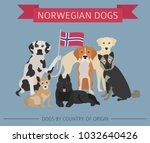 dogs by country of origin.... | Shutterstock .eps vector #1032640426