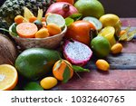 Mix Of Ripe Tropical Fruits...