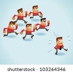 trendsetter and follower. vector | Shutterstock .eps vector #103264346