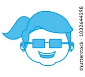 cute grandmother cartoon | Shutterstock .eps vector #1032644398