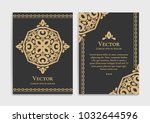 gold vintage greeting card on a ... | Shutterstock .eps vector #1032644596