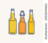 three different form of beer... | Shutterstock .eps vector #1032644662