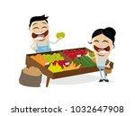 greengrocer vegetables fruit...   Shutterstock .eps vector #1032647908