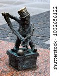 Small photo of Wroclaw, Lower Silesia, Poland - 17 July 2012: Bronze dwarf