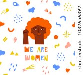 international women day card... | Shutterstock .eps vector #1032656392