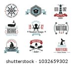 sea marine vector nautical logo ... | Shutterstock .eps vector #1032659302