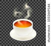 tea. design poster of cup of... | Shutterstock .eps vector #1032669166