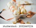 modern style easter eggs in a... | Shutterstock . vector #1032669226
