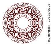 heraldic cartouche symbol | Shutterstock .eps vector #1032670108