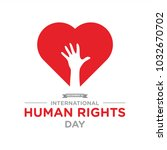 human rights day banner vector | Shutterstock .eps vector #1032670702