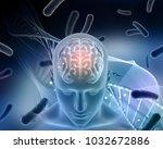 3d render of a medical... | Shutterstock . vector #1032672886