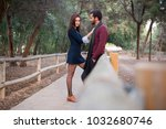 young couple in love  man and... | Shutterstock . vector #1032680746