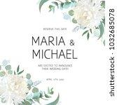 wedding eucalyptus and white... | Shutterstock .eps vector #1032685078