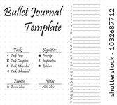 bullet journal template. simple ...   Shutterstock .eps vector #1032687712