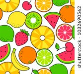 tropical fruits seamless... | Shutterstock .eps vector #1032690562