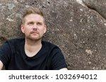 outdoor portrait of handsome... | Shutterstock . vector #1032694012