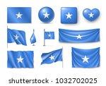 set somali flags  banners ... | Shutterstock .eps vector #1032702025