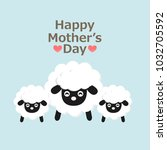 happy mother s day card. mom... | Shutterstock .eps vector #1032705592