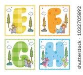 alphabets letters for kids | Shutterstock .eps vector #1032705892