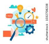 seo  search engine optimization ... | Shutterstock .eps vector #1032708238