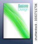 brochure green cover template... | Shutterstock . vector #1032711736