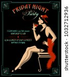 Flapper Girl With Wineglass....