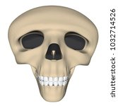 deformed human skull in cartoon ... | Shutterstock .eps vector #1032714526