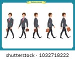 collection set of walking and... | Shutterstock .eps vector #1032718222