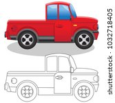 truck. side view. isolated on... | Shutterstock .eps vector #1032718405