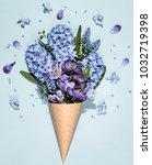 Crocus Hyacinth Muscari Flower Waffle - Fine Art prints