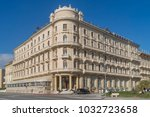 liberty style building in... | Shutterstock . vector #1032723658