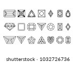 collection of gems and... | Shutterstock .eps vector #1032726736