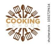 cooking school class vector... | Shutterstock .eps vector #1032729616
