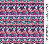 fabric pattern. tribal ornament.... | Shutterstock . vector #1032729925