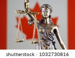 symbol of law and justice with... | Shutterstock . vector #1032730816