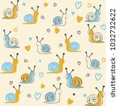 seamless pattern with cute... | Shutterstock .eps vector #1032732622