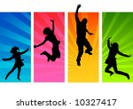 young people having fun and... | Shutterstock .eps vector #10327417