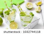 caipirinha or mojito cocktail... | Shutterstock . vector #1032744118