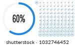 set of circle percentage... | Shutterstock .eps vector #1032746452