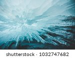 crystal clear sharp icicles... | Shutterstock . vector #1032747682