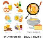 european vector food cuisine... | Shutterstock .eps vector #1032750256