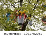 Decorations With Hanging Pails...