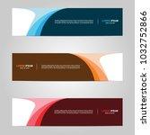 modern banner template design... | Shutterstock .eps vector #1032752866