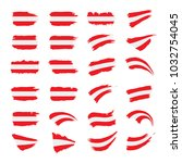austria flag  vector... | Shutterstock .eps vector #1032754045