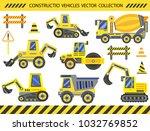 big set construction vehicles... | Shutterstock .eps vector #1032769852