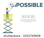 the painter remove word im on... | Shutterstock .eps vector #1032769858