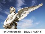 white angel marble sculpture... | Shutterstock . vector #1032776545