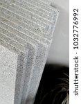 piece of natural stone shelves   Shutterstock . vector #1032776992